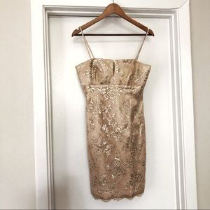 Laundry by Shelli Segal Champagne Cocktail Dress